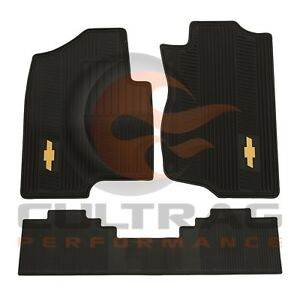 2007 2012 Chevrolet Tahoe Gm Front 2nd Row All Weather Floor Mats Black