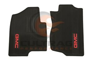 2007 2014 Gmc Sierra Yukon Front All Weather Floor Mats Black 12499644