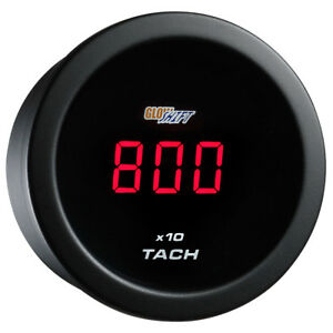 Refurbished Glowshift 52mm Red Digital Led Tachometer 10 000 Rpm Gauge