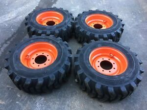 4 New Camso 12 16 5 Skid Steer Tires Wheels rims For Bobcat 12x16 5 12 Ply