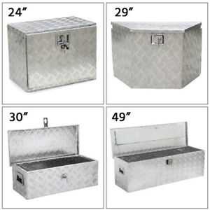 24 29 30 49 Aluminum Truck Tool Box Trailer Rv Tool Storage Under Bed W Lock