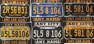 License Plate Topper Bottom For Vintage California License Plate 1929 1955