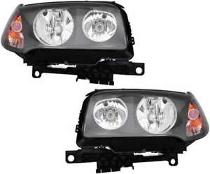 Halogen Headlights Headlight Assembly W bulb Pair Set For 04 05 06 Bmw X3