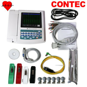 Usa 12 Channel Ecg ekg Machine Digital Electrocardiograph touch Screen usb Pc Sw