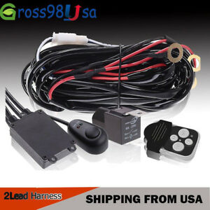 1 Lead Wiring Harness Kit W Remote Control Switch Relay 12v For Led Work Light