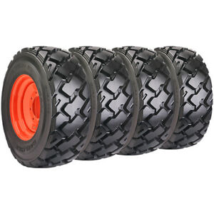 Set Of Carlisle 10x16 5 Ultra Guard Mx Skid Steer Tires And Wheels Bobcat