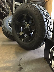 5 18 Xd Rockstar 2 Black Wheels Jeep Wrangler Jk 33 Toyo At2 Tires Package