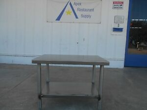 Stainless Steel Work prep Table With Undershelf Commercial Kitchen 2694