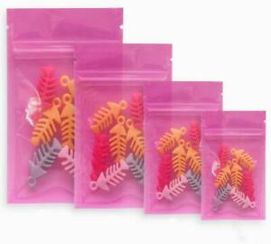 Colorful Clear Plastic Poly Zip Lock Bags Jewelry Food Package Pouch Resealable
