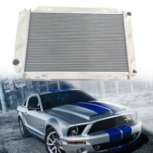 3 Triple Core Bolt On Racing 2 Row Aluminum Radiator Fit For 79 93 Ford Mustang