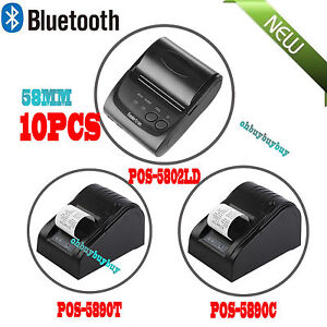 Lot Wireless Bluetooth Thermal Receipt Printer 58mm Line Mobile Pos Android Hm