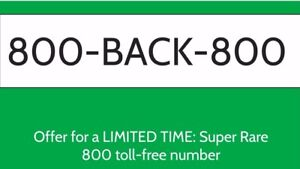 800 Toll Free Number 800 back 800 Super Rare Number