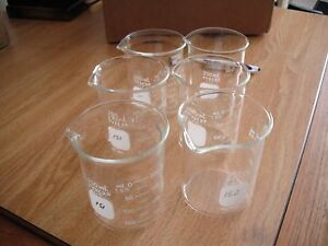 Pyrex 250 Ml Glass Beaker No 1000 lot Of 12