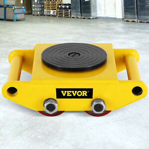 13200lb 6t Machinery Mover Roller Dolly Skate W 360 Swivel Top Plate Free Ship