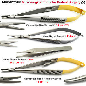 Microsurgical Tools Rodent Surgical Tc Needle Holder Scissors Forcep Save 55
