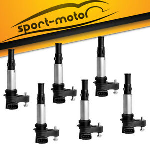 6pcs Ignition Coil On Plug Coils Pack For Cadillac Sts Cts Srx 3 6l 2 8l Uf375