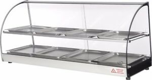 Commercial Counter Top Glass Display Food Empanada Patty Warmer 44 Inches