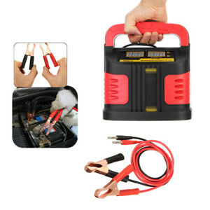 Metal 350w 14a Car Plus Adjust Lcd Battery Charger 12v 24v Jump Starter Booster