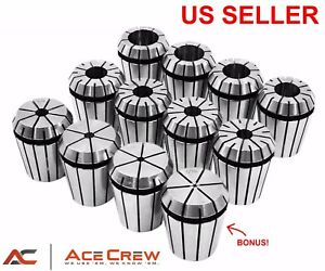 Er32 Collet Set 13 pc 1 16 1 8 3 16 1 4 5 16 3 8 7 16 1 2 And More