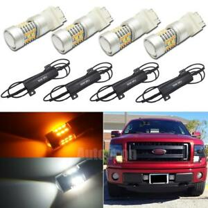 Canbus Dual Color Switchback Led Signal Lights Kit For Gmc Sierra 1500 2500 3500