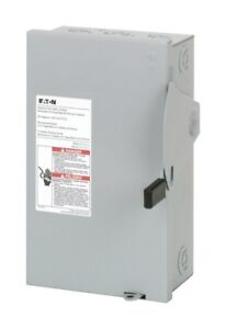 Eaton Indoor Fusible Safety Switch 30 Amp 240 V Boxed