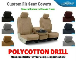 Polycotton Drill Custom Fit Seat Covers For Honda Pilot