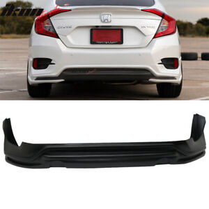 Fits 16 18 Honda Civic Sedan 4dr Avs Style Rear Bumper Lip Spoiler Pp