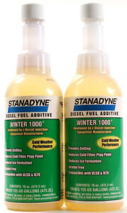 2 Stanadyne Diesel Fuel Additive Winter 1000 Cold Weather Performance 16 Oz Each