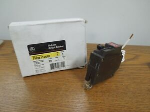 Ge Thqb1120gf 20a 1p 240v Bolt On Circuit Breaker W Ground Fault New Surplus
