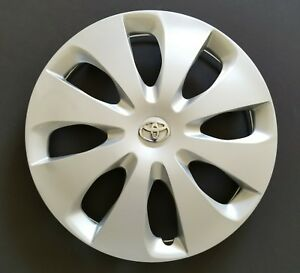 New Wheel Cover Replacement Fits 2012 2014 Toyota Prius C 15 Silver 8 Spoke