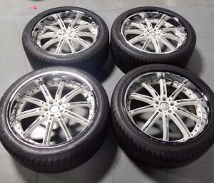 Used 22 Maas 2 Piece Wheels Just Wheels Only No Tires Mercedes Ml Gl Gle