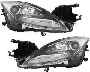 Xenon Headlights Headlamps New Set Pair For 11 13 Mazda 6 Mazda6