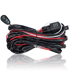Wiring Harness Relay Kit 1 Lead On Off Switch 12v Led Light Bar Driving Work Pod