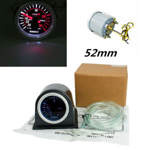 2 52mm Turbo Boost Gauge Pointer Display Universal Car Meter Carbon Fiber Pod