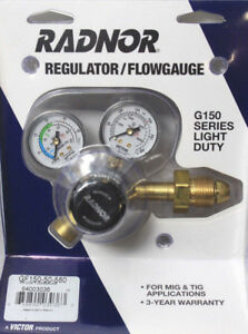 Radnor Victor 64003036 Regulator Argon Ar co2 Flow Gauge G150 Series Light Duty