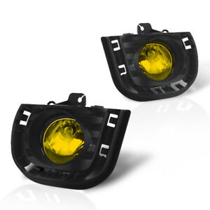 For 2014 2015 Scion Tc Yellow Lens Chrome Housing Replacement Fog Lights Lamps