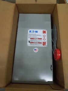Eaton Dh362fgk Heavy Duty Fusible Safety Switch 60a 3w 600v Nema 1 Indoor New