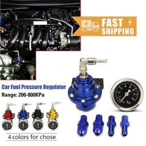 Adjustable Auto Car Fuel Pressure Regulator With Kpa Oil Gauge Kit Rd Exquisite