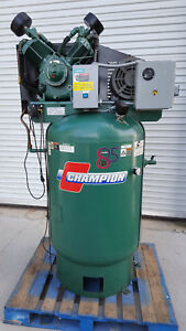 Champion Vr10 12 Air Compressor 3ph 10hp 35cfm With Air Dryer
