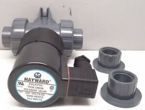 New Hayward Sv10075ste220a Pvc True Union Solenoid Valve 3 4