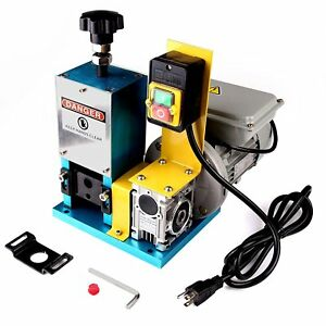 Motorized Scrap Cable Stripper Powered Electric Wire Stripping Machine us Plug H