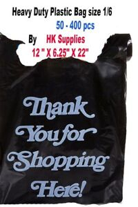 Large Plastic White And Black Bags 50 To 400 Count Extra Heavy Duty 1 6 Grocery