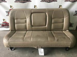2001 F250 Superduty Rear Bench Seat Crew Cab Tan Leather
