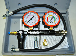 Lang Clt 2pb Cylinder Leakage Tester With 2 Gauges 100 Psi