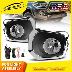 For 2010 2011 Toyota Prius Clear Fog Lights Driving Bumper Lamps Complete Kit