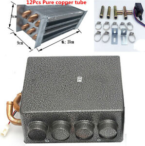 Universal Car 4 Holes Underdash Compact Heater Heat Copper Iron With Brackets