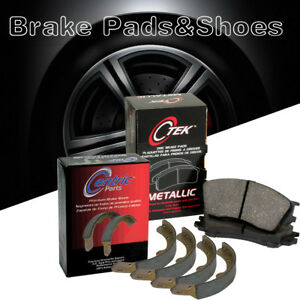 Front Rear Metallic Brake Pads Shoes 2set For 1988 1989 Isuzu Imark