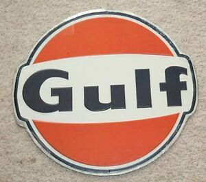 Gulf Oil Gas Signs Vintage 1960 S Style Advertising Antique Gas Oil Pump Station