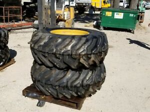 2 New Firestone 19 5l 24 Tire Wheel 10 Ply R4 Caterpillar 436c Loader Backhoe Tx