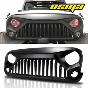 Black Front Gladiator Grill Grille For 07 18 Jeep Wrangler Jk Unlimited Rubicon